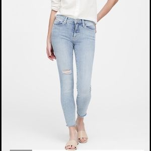 Banana Republic midrise skinny ankle jeans 27s NWT